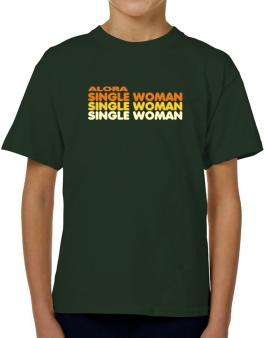 Alora Single Woman T-Shirt Boys Youth