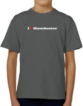 I Love Manchester T-Shirt Boys Youth