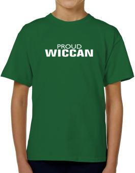 Proud Wiccan T-Shirt Boys Youth