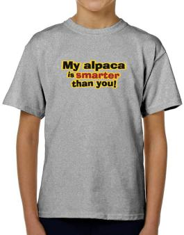 My Alpaca Is Smarter Than You! T-Shirt Boys Youth