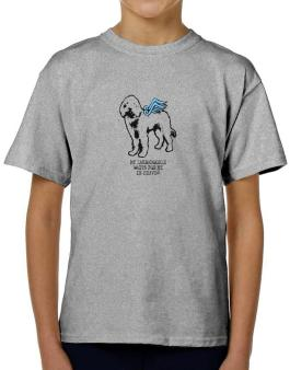 My Labradoodle Waits For Me In Heaven T-Shirt Boys Youth