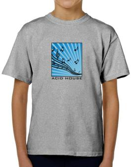 Acid House - Musical Notes T-Shirt Boys Youth