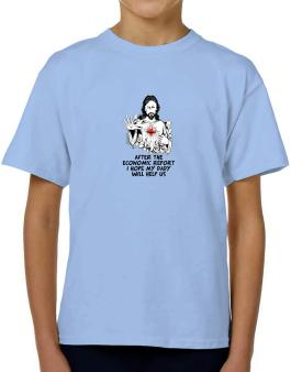 After The Economic Report I Hope My Daddy Will Help Us - Jesus T-Shirt Boys Youth