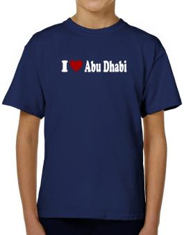 I Love Abu Dhabi T-Shirt Boys Youth