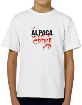 Being A ... Alpaca Is Not A Crime T-Shirt Boys Youth