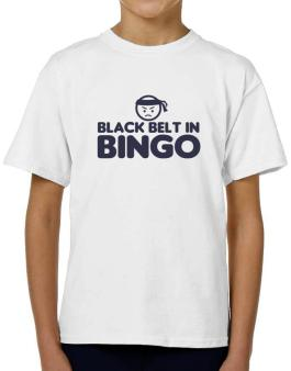 Black Belt In Bingo T-Shirt Boys Youth