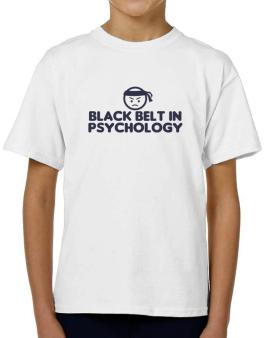 Black Belt In Psychology T-Shirt Boys Youth
