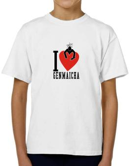 I Love Genmaicha T-Shirt Boys Youth