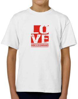 Love Abecedarian T-Shirt Boys Youth