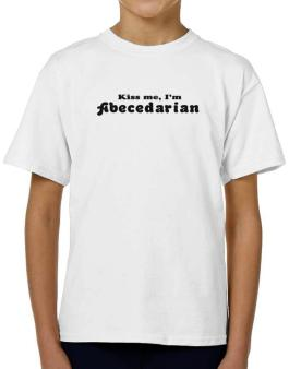 Kiss Me, Im Abecedarian T-Shirt Boys Youth