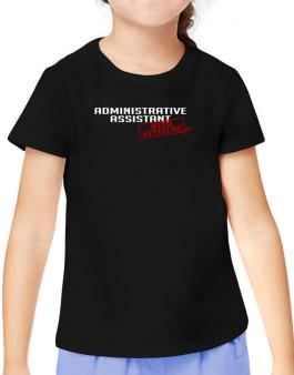 Administrative Assistant With Attitude T-Shirt Girls Youth