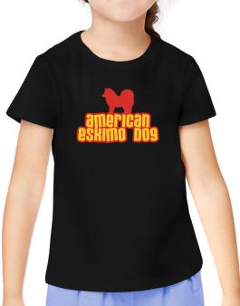 Breed Color American Eskimo Dog T-Shirt Girls Youth