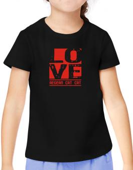 Love Aegean Cat T-Shirt Girls Youth