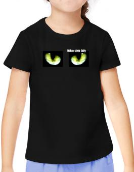 Maine Coon Lady T-Shirt Girls Youth