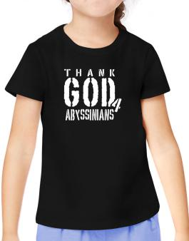 Thank God For Abyssinians T-Shirt Girls Youth