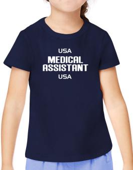 Usa Medical Assistant Usa T-Shirt Girls Youth