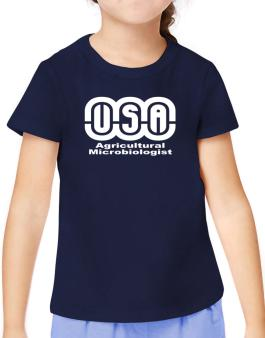 Usa Agricultural Microbiologist T-Shirt Girls Youth