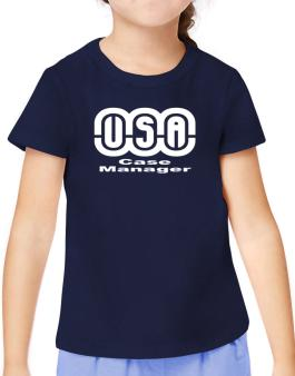 Usa Case Manager T-Shirt Girls Youth