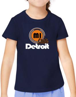 Detroit - State T-Shirt Girls Youth