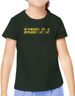Owned By A Hemingway Cat T-Shirt Girls Youth