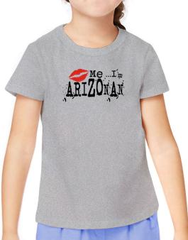 Kiss Me, Im Arizonan - Lips T-Shirt Girls Youth