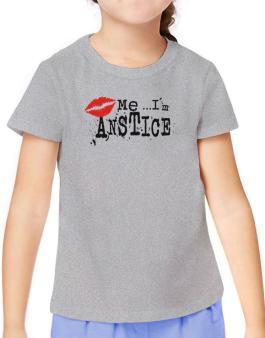 Kiss Me, Im Anstice - Lips T-Shirt Girls Youth