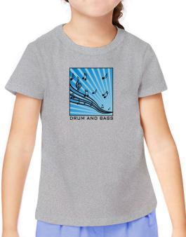 Drum And Bass - Musical Notes T-Shirt Girls Youth