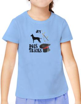 My Peruvian Hairless Dog Does Tricks ! T-Shirt Girls Youth