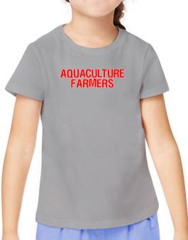 Aquaculture Farmers Embroidery T-Shirt Girls Youth