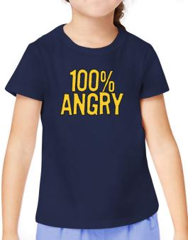100% Angry T-Shirt Girls Youth