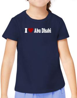 I Love Abu Dhabi T-Shirt Girls Youth