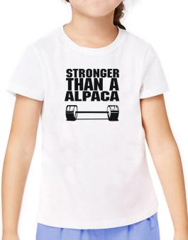 Stronger Than An Alpaca T-Shirt Girls Youth