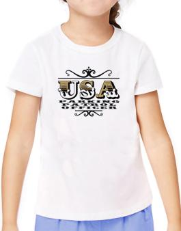 Usa Parking Patrol Officer T-Shirt Girls Youth