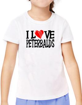 I Love Peterbalds - Scratched Heart T-Shirt Girls Youth
