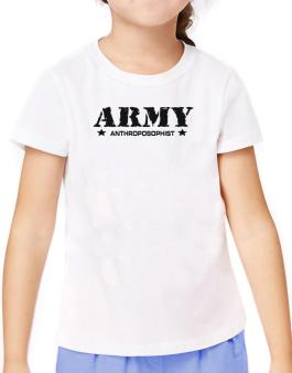Army Anthroposophist T-Shirt Girls Youth