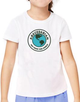 Abecedarian Not From This World T-Shirt Girls Youth