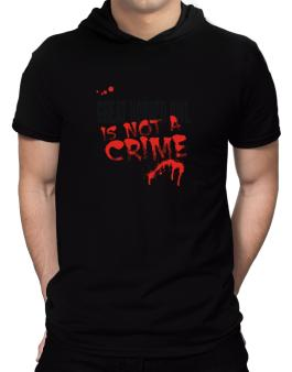 Being A ... Great Horned Owl Is Not A Crime Hooded T-Shirt - Mens