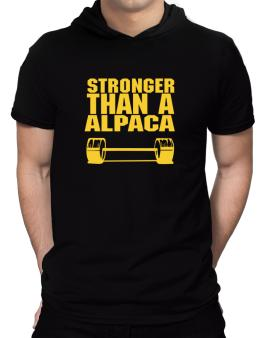 Stronger Than An Alpaca Hooded T-Shirt - Mens