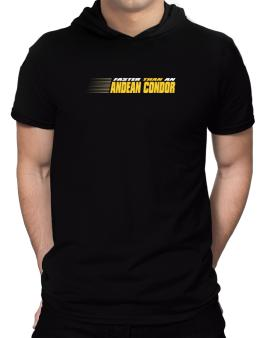 Faster Than An Andean Condor Hooded T-Shirt - Mens