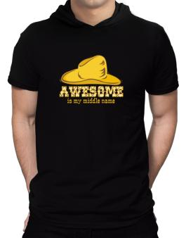Awesome Is My Middle Name Hooded T-Shirt - Mens