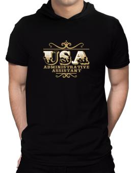 Usa Administrative Assistant Hooded T-Shirt - Mens