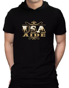 Usa Aide Hooded T-Shirt - Mens