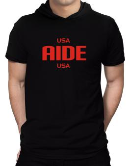 Usa Aide Usa Hooded T-Shirt - Mens