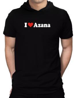 I Love Azana Hooded T-Shirt - Mens