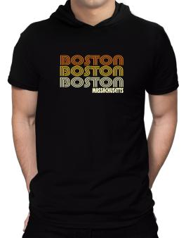 Boston State Hooded T-Shirt - Mens