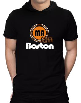 Boston - State Hooded T-Shirt - Mens