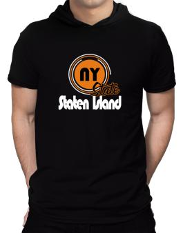 Staten Island - State Hooded T-Shirt - Mens