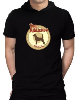 Dog Addiction : Beagle Hooded T-Shirt - Mens
