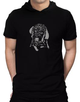 Labradoodle Face Special Graphic Hooded T-Shirt - Mens
