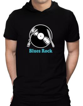 Blues Rock - Lp Hooded T-Shirt - Mens